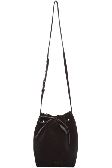 Mansur Gavriel - Black Suede Mini Bucket Bag