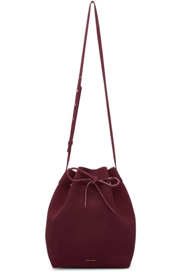 Mansur Gavriel - Burgundy Suede Bucket Bag