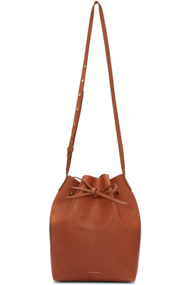 Mansur Gavriel - Brown Leather Bucket Bag