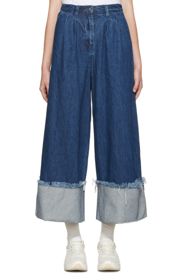 Edit - Blue Denim Turn Up Culottes