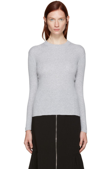 Edit - Grey Ribbed Mock Neck Sweater