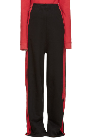 Vetements - Black Wide-Leg Lounge Pants