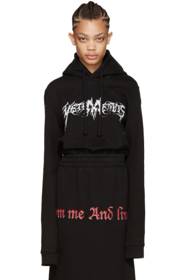 Vetements - Black 'Total Fucking Darkness' Hoodie