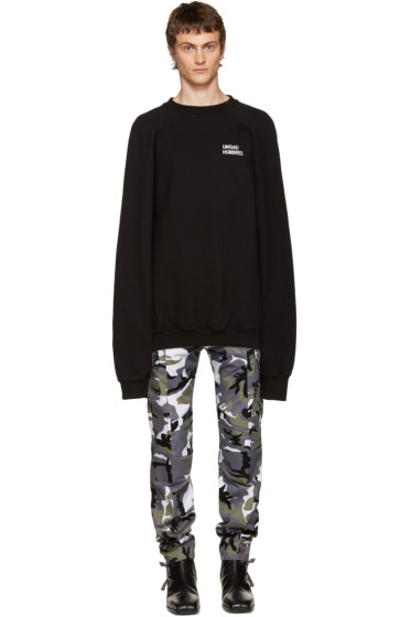 Vetements - Black Oversized 'Unidad Hombres' Pullover