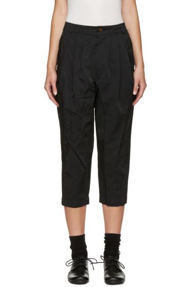 Comme des Garçons Comme des Garçons - Black Cropped Pleated Trousers