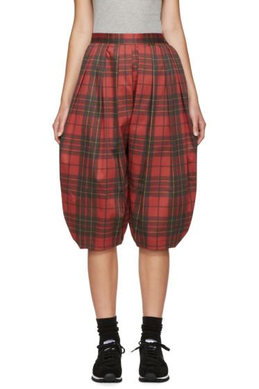 Comme des Garçons Comme des Garçons - Red Plaid Volume Trousers