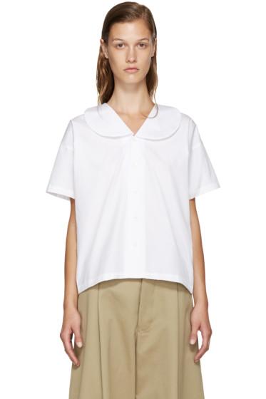Comme des Garçons Comme des Garçons - White Big Collar Shirt