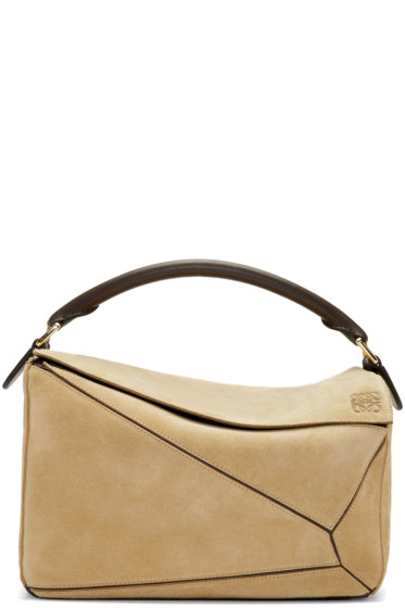 Loewe - Tan Suede Puzzle Bag