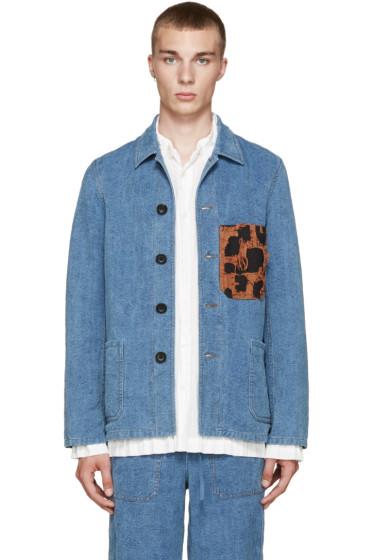 Loewe - Blue Leopard Pocket Jacket