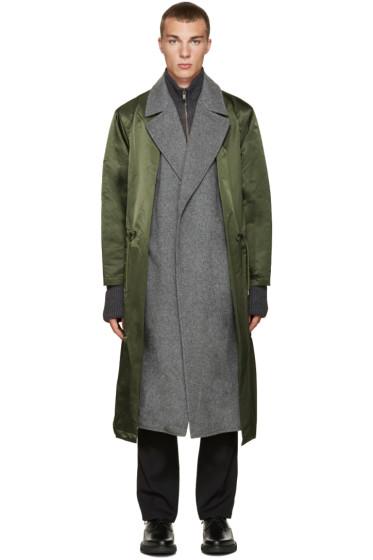Toga Virilis - Green Nylon Layered Coat