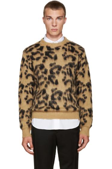 Toga Virilis - Tan Mohair Leopard Sweater