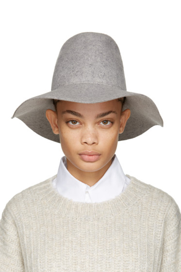 Clyde - Grey Felt Pinch Fedora