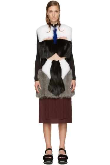 Fendi - Multicolor Karlito Fox Fur Vest