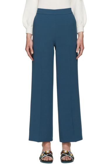 Fendi - Blue Wool Trousers