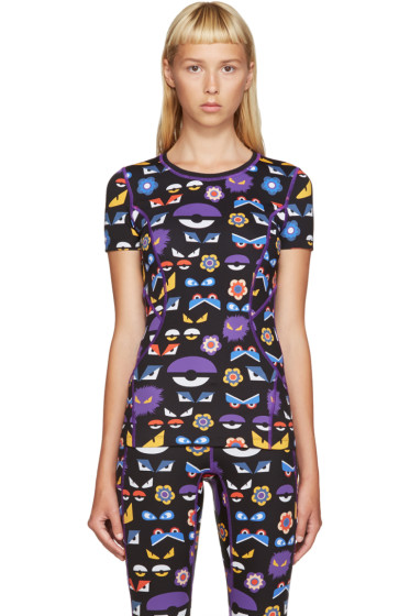 Fendi - Black Monster Print T-Shirt