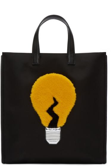 Fendi - Black Nylon Lamp Tote
