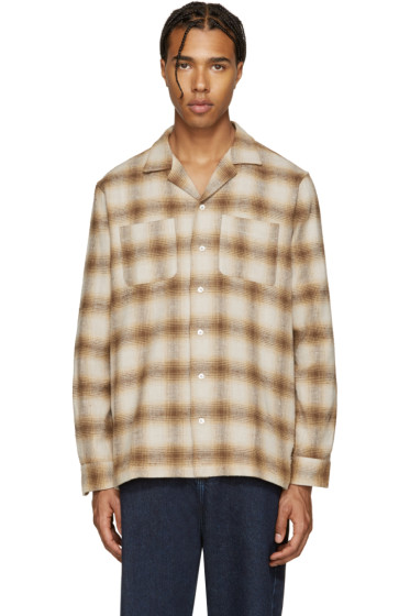 Palm Angels - Tan Check Pyjama Shirt