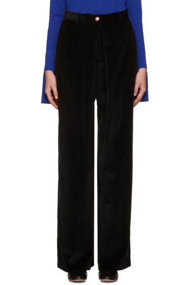 Aalto - Black Pleated Corduroy Trousers