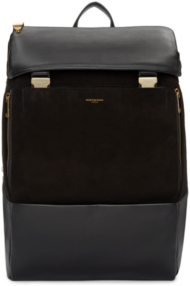 Wooyoungmi - Black Suede & Leather Backpack