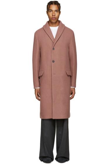 Wooyoungmi - Pink Shawl Collar Coat