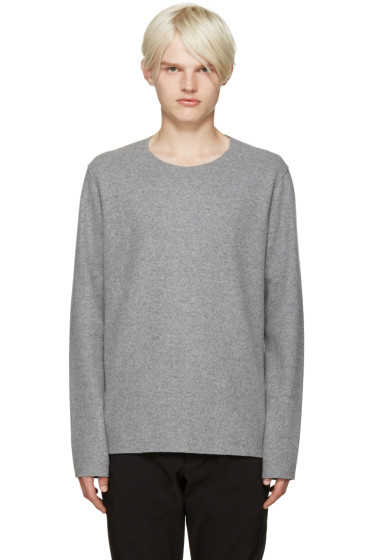 Attachment - Grey Raw Edge Sweater