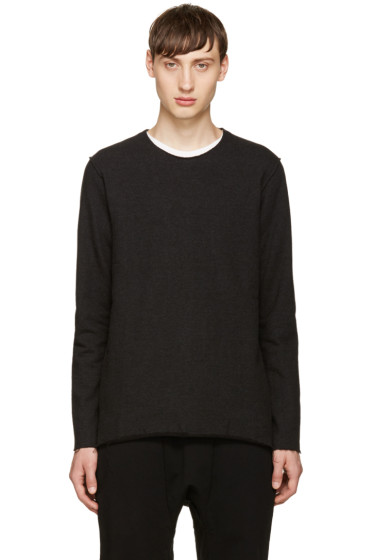 Attachment - Black Raw Edges Sweatshirt