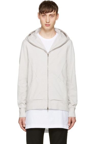 Attachment - Off-White Zip-Up Hoodie