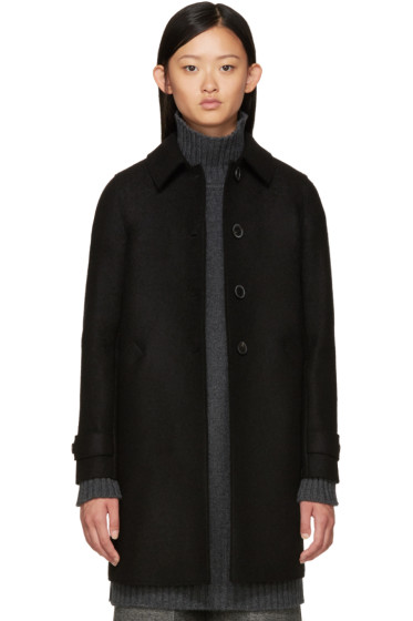 Harris Wharf London - Black Wool Coat