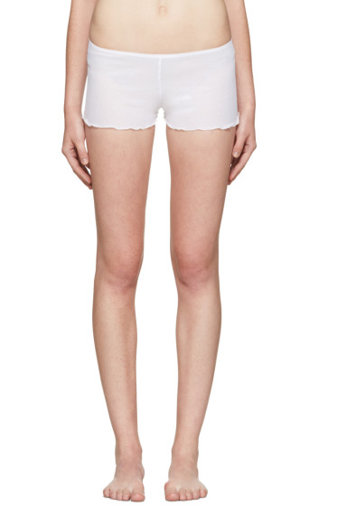 Araks - White Kat Boy Shorts