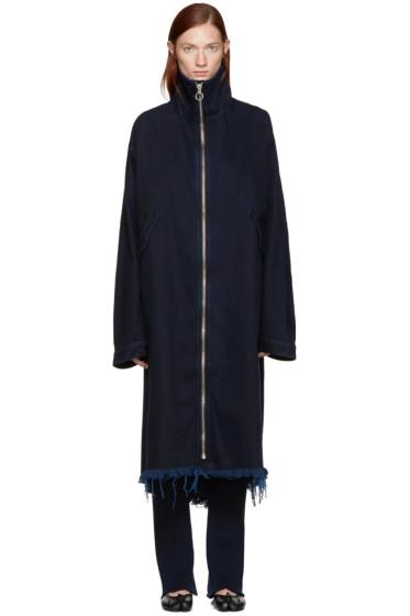 Marques Almeida - Indigo Denim Long Jacket