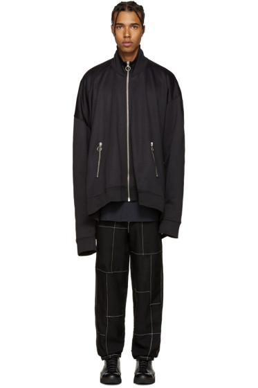 Marques Almeida - Black Oversized Zip-Up Jacket