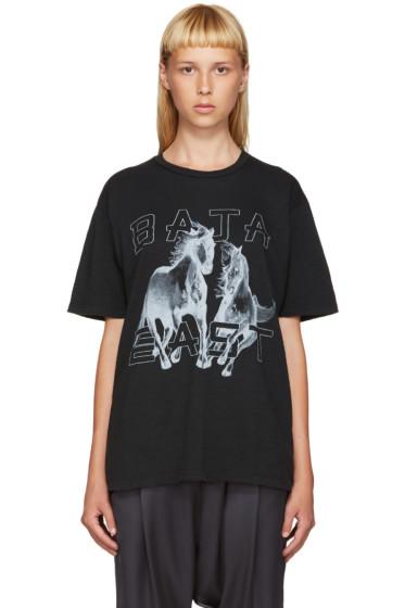 Baja East - Black Logo Horse T-Shirt