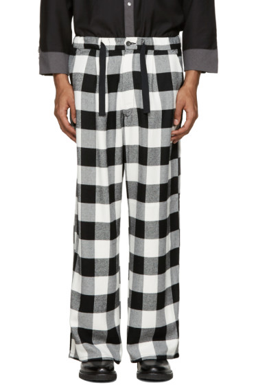 Kidill - Black & White Wide-Leg Trousers
