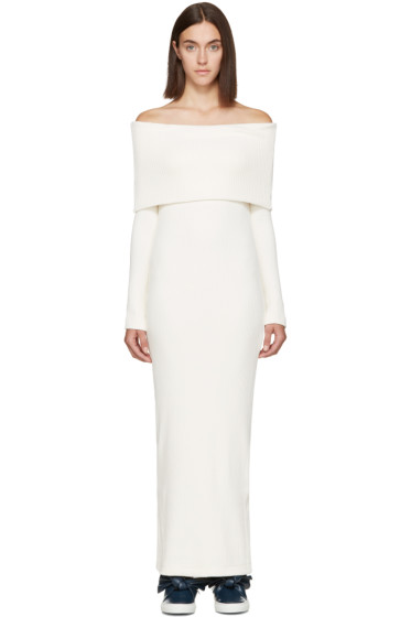 Atea Oceanie - Ivory Foldover Dress
