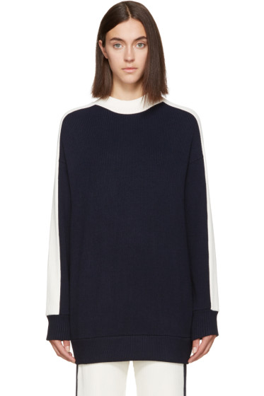 Atea Oceanie - Navy Ribbed Pullover