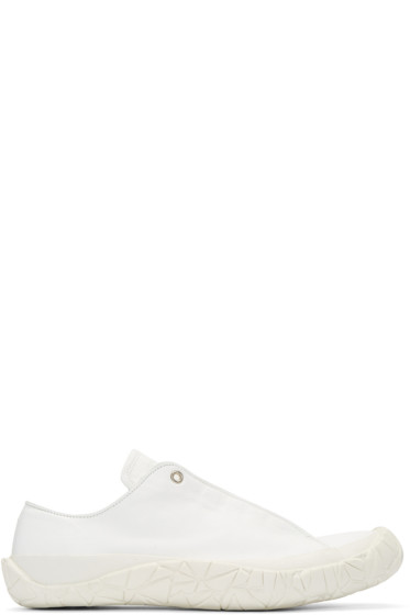 Issey Miyake Men - White Leather Sneakers