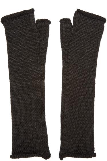 Isabel Benenato - Black Fingerless Gloves