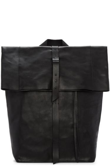Isabel Benenato - Black Leather Backpack