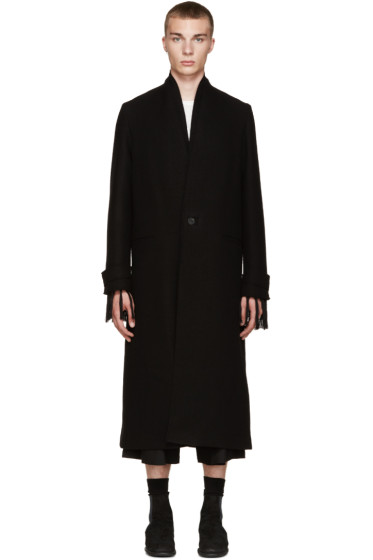 Isabel Benenato - Black Wool Long Coat