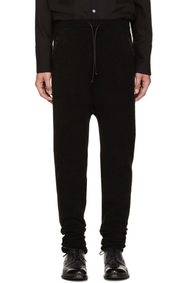 Isabel Benenato - Black Knit Lounge Pants
