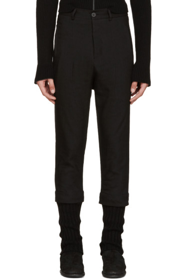 Isabel Benenato - Black Layered Trousers