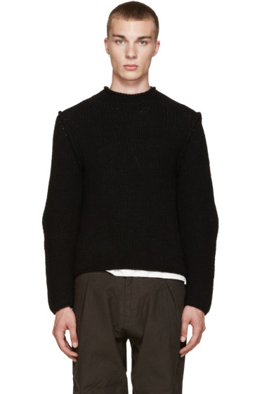 Isabel Benenato - Black Heavy Knit Sweater
