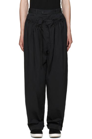 Craig Green - Black Panelled Pyjama Trousers