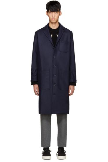 Sunnei - Navy Wool Classic Coat