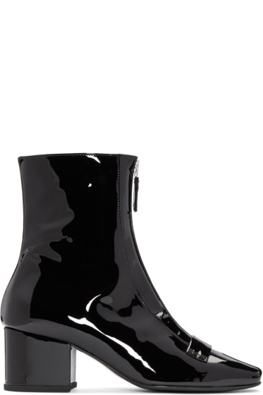 Dorateymur - Black Patent Double Delta Boots