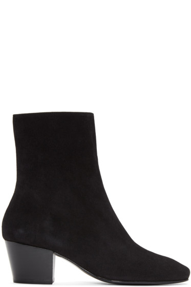 Dorateymur - Black Suede Droop Nose Boots