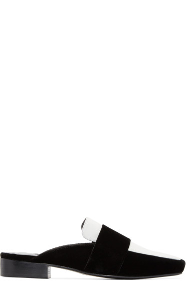 Dorateymur - Black & White Velvet Filiskyie Loafers