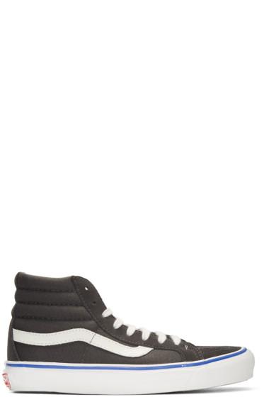 Vans - Grey Suede OG Sk8-Hi LX Sneakers