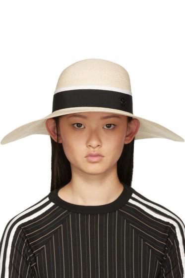 Maison Michel - Beige Blanche Hat