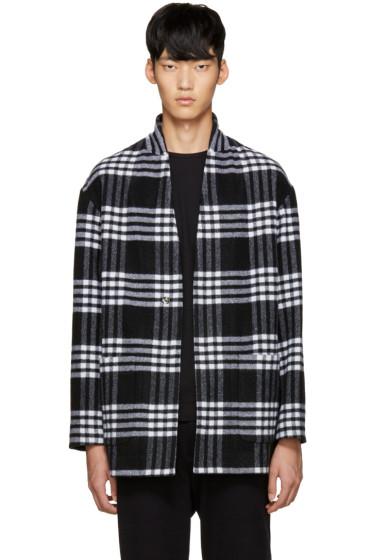 Tomorrowland - Black Wool Plaid Coat